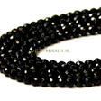 ONYX FACETED ROUND BEADS 4MM